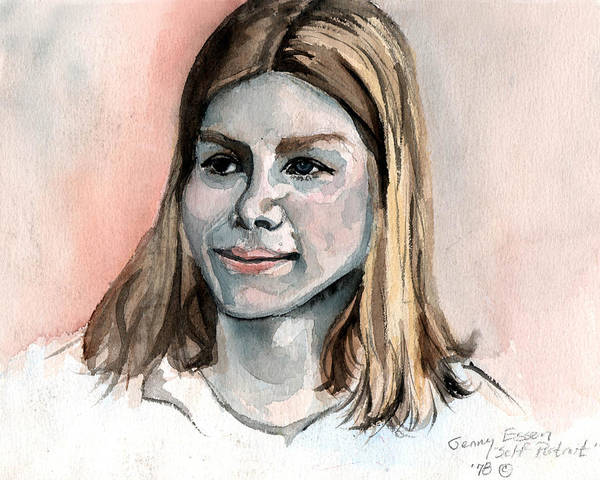 Selfportrait Painting - Self Portrait At 15 by Genevieve Esson