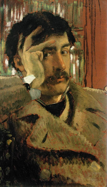 Moustaches Photograph - Self Portrait, C.1865 Panel by James Jacques Joseph Tissot