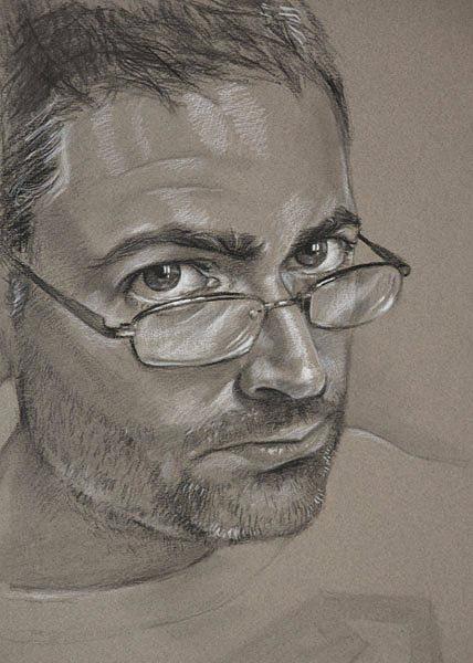 Painting - Self Portrait by Christopher Reid