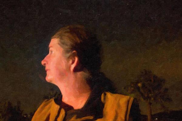 Camera Raw Photograph - Self Portrait During The Night Of A Fire by Carolina Liechtenstein
