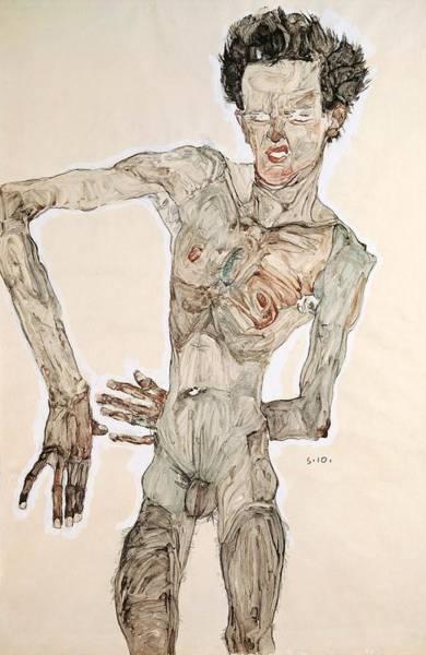 Painting - Self-portrait by Egon Schiele