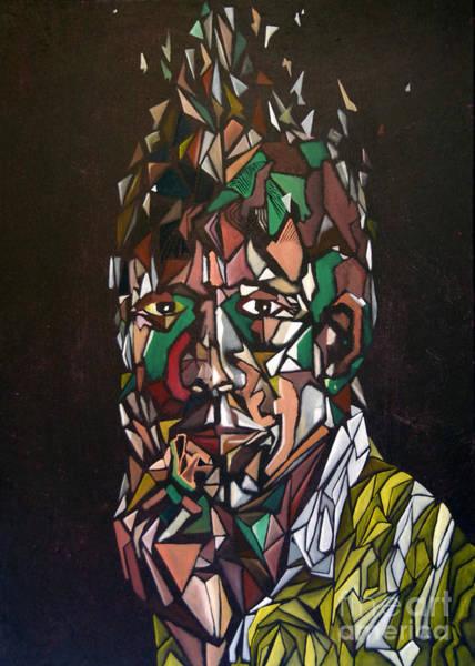 Painting - Self Portrait A Head In Pieces by James Lavott