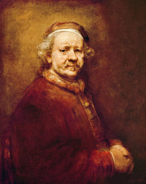 Painting - Self Portrait In At The Age Of 63 by Celestial Images