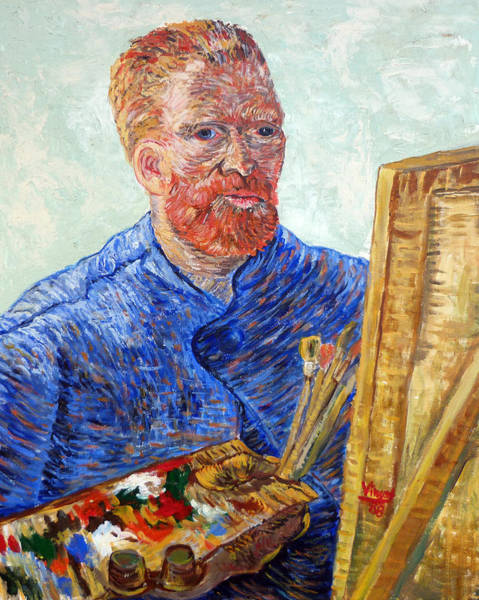 Painting - Self Portrait In Front Of Easel by Tom Roderick