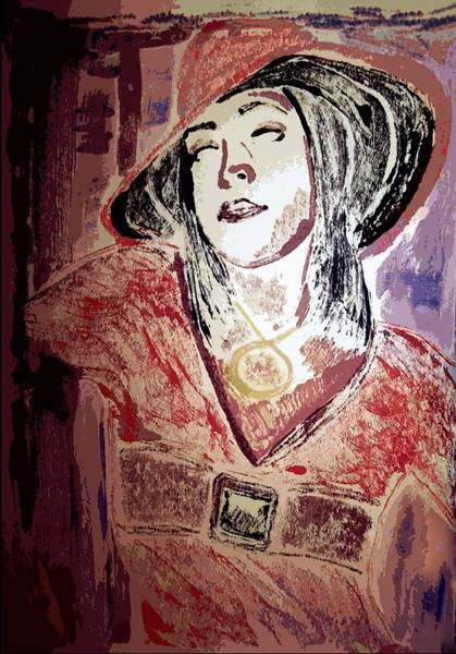 Delta Mixed Media - Self-portrait by Neena J
