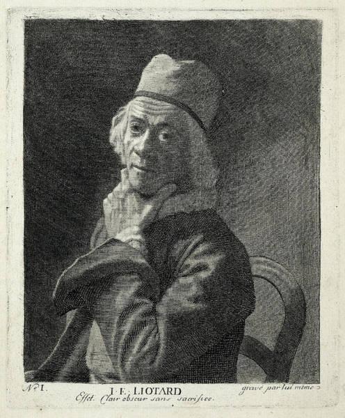 Jean Etienne Liotard Wall Art - Drawing - Self Portrait, Jean-etienne Liotard by Quint Lox