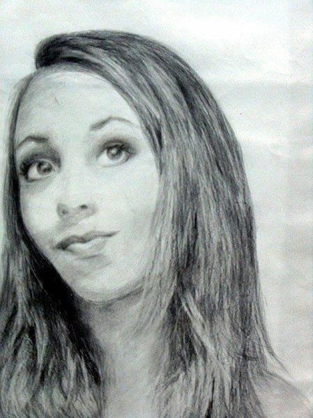 Wall Art - Drawing - Self Portrait by Lauren  Pecor
