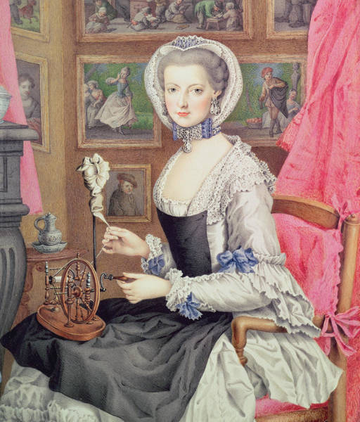 Mending Painting - Self Portrait by Maria Christine