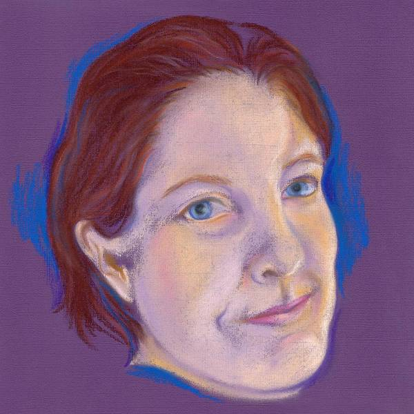 Pastel - Self Portrait by MM Anderson