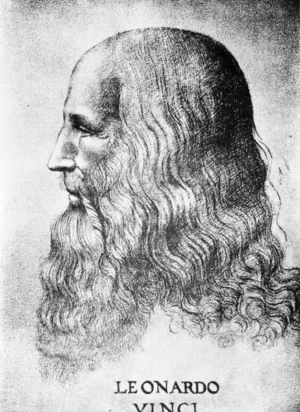 Circa Painting - Self Portrait Of Leonardo Da Vinci by Vintage Images