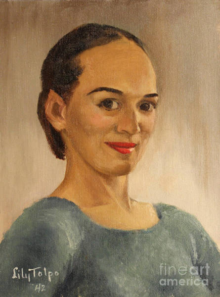 Painting - Self Portrait Of Lily - 1942 by Art By Tolpo Collection
