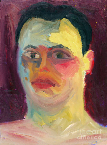 Painting - Self Portrait Oil Panting by Joey Gonzalez