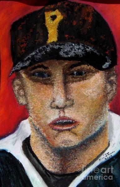 Drawing - Self Portrait-oil Pastels by Jon Kittleson