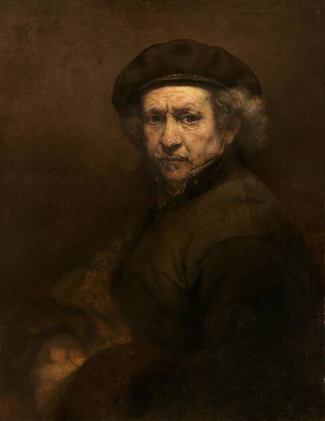 Painting - Self Portrait by Rembrandt