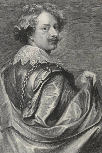 Baroque Drawing - Self Portrait by Sir Anthony van Dyck