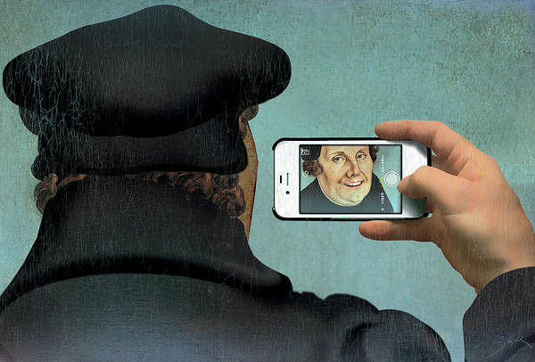 Luther Photograph - Self-portrait by Smetek/science Photo Library