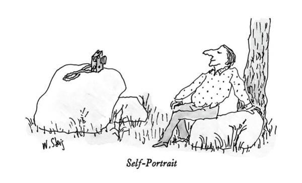 Self Portrait Drawing - Self-portrait by William Steig
