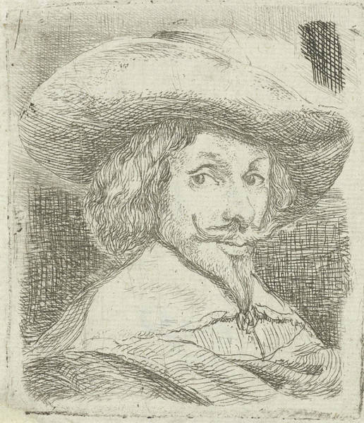 Wall Art - Drawing - Self Portrait With Hat, Jan Van Ossenbeeck by Jan Van Ossenbeeck