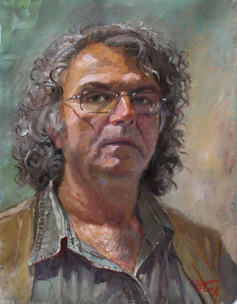 Wall Art - Painting - Self Portrait by Ylli Haruni