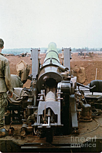 Photograph - Self-propelled 8 Inch Howitzer M110 Lz Oasis R V N 1968 by California Views Archives Mr Pat Hathaway Archives