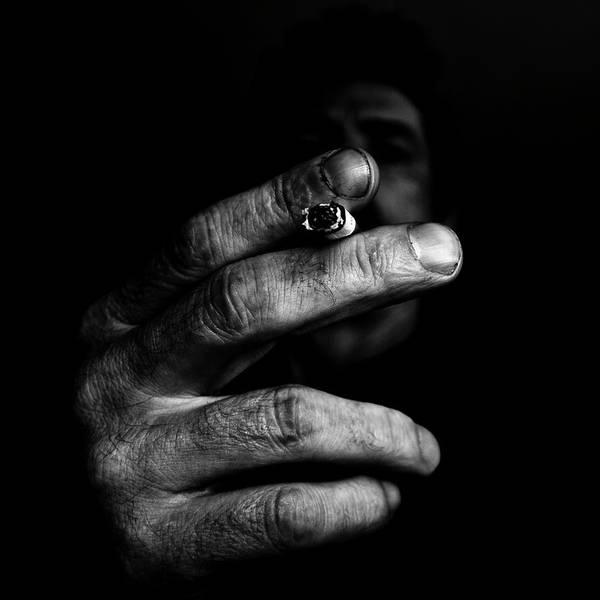 Bilbao Photograph - Self Smoking by Miguel Angel Samos Lucena