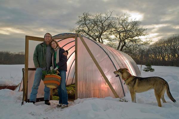 Vegetable Garden Photograph - Self Sustainable Gardening Couple by Nathan Eldridge
