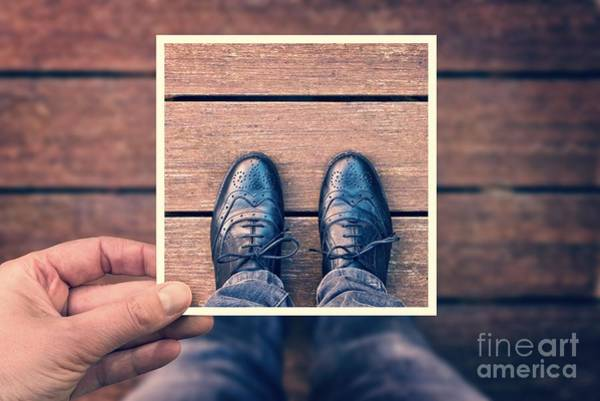 Wooden Shoe Photograph - Selfie by Delphimages Photo Creations