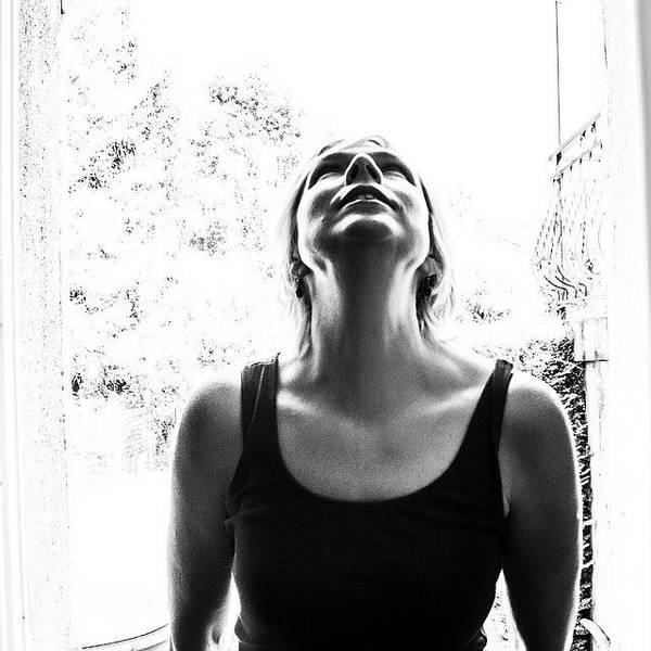 Portrait Photograph - #selfportrait #portrait #noir #bw by Georgia Fowler