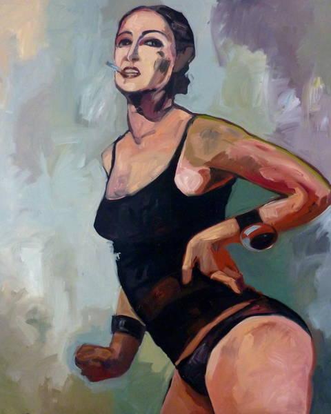 Selfportrait Painting - Selfportrait Smoking by Carmen Stanescu Kutzelnig