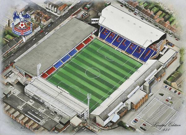 Wall Art - Painting - Selhurst Park - Crystal Palace by Kevin Fletcher