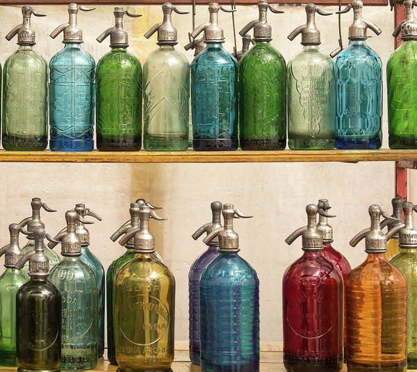 Shelves Photograph - Seltzer Bottles by Ugur Erkmen