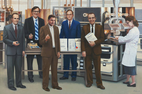 Silicon Valley Wall Art - Painting - Semiconductor Pioneers Of Silicon Valley by Terry Guyer