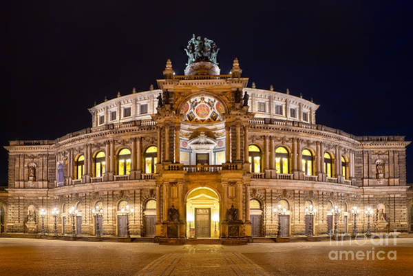 Wall Art - Photograph - Semperoper by Delphimages Photo Creations