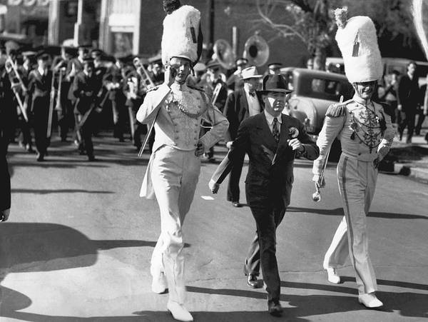 Honour Wall Art - Photograph - Senator Huey Long In Parade by Underwood Archives