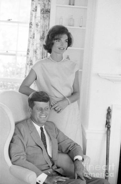 John F Kennedy Photograph - Senator John F. Kennedy And Jacqueline At Hyannis Port 1959 by The Harrington Collection