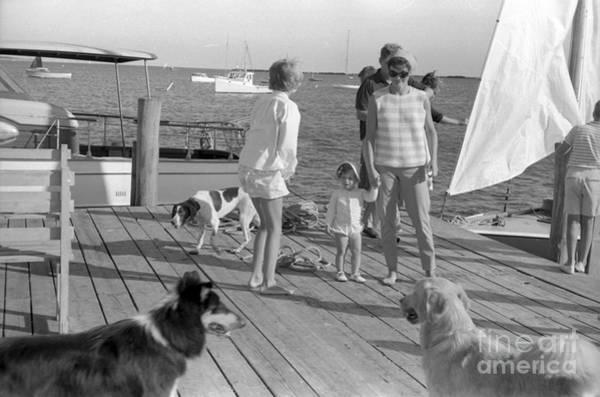 John F Kennedy Photograph - Senator John F. Kennedy And Jacqueline At The Marina by The Harrington Collection
