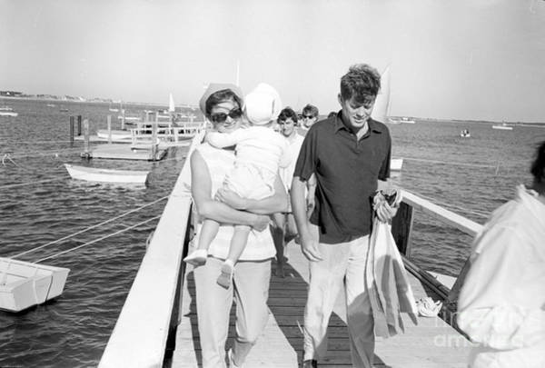 John F Kennedy Photograph - Senator John F. Kennedy And Jacqueline Kennedy At Hyannis Port Marina by The Harrington Collection