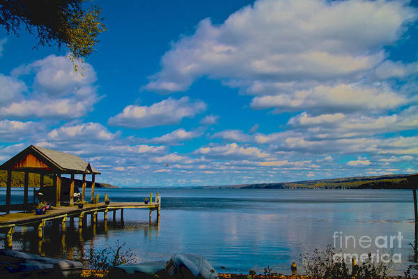 Photograph - Seneca Lake At Glenora Point by William Norton