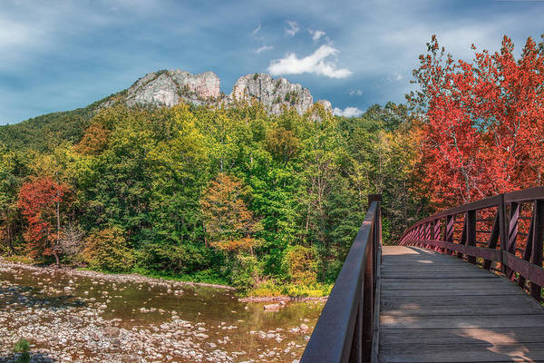 Photograph - Seneca Rocks In Autumn by Mary Almond