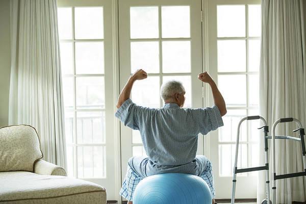 Senior Adult Photograph - Senior African American Man On Fitness by Tvp Inc