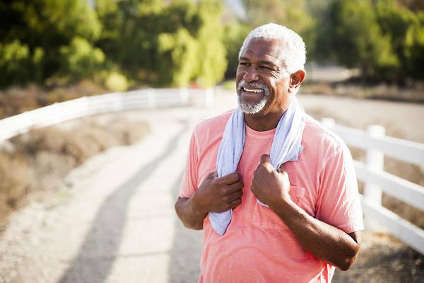 Senior Black Man After Workout Art Print by Adamkaz