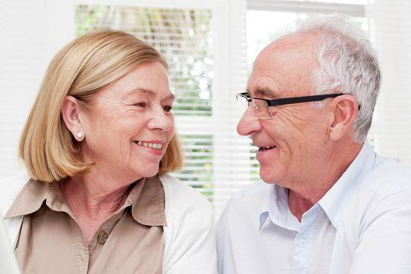 Happiness Photograph - Senior Couple by Science Photo Library