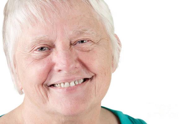 Photograph - Senior Woman Portrait Smiling by Gunter Nezhoda