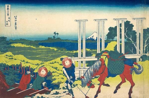 Thirty-six Views Of Mount Fuji Wall Art - Painting - Senju In Musashi Province by Katsushika Hokusai