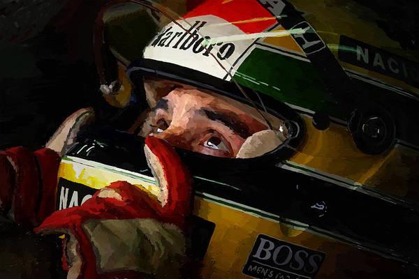 Formula One Digital Art - Senna by Charley Pallos