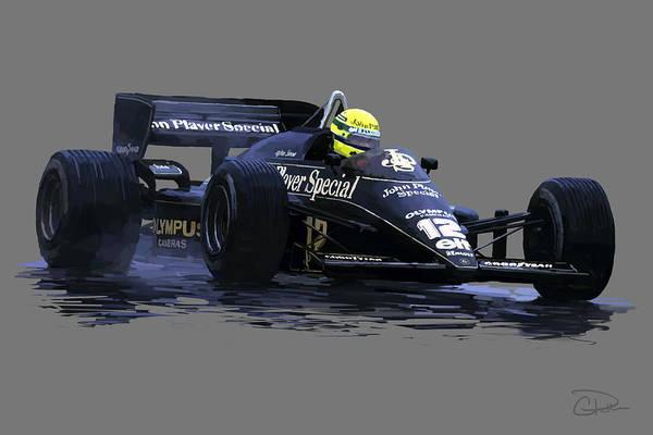 Ayrton Senna Wall Art - Digital Art - Senna Na Chuva by Charley Pallos