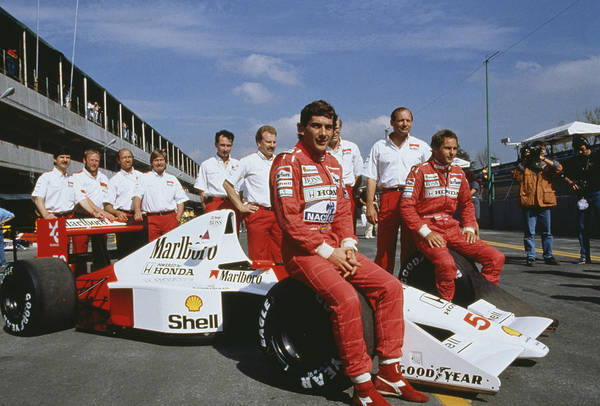 Senna With Mclaren Team Art Print by Getty Images