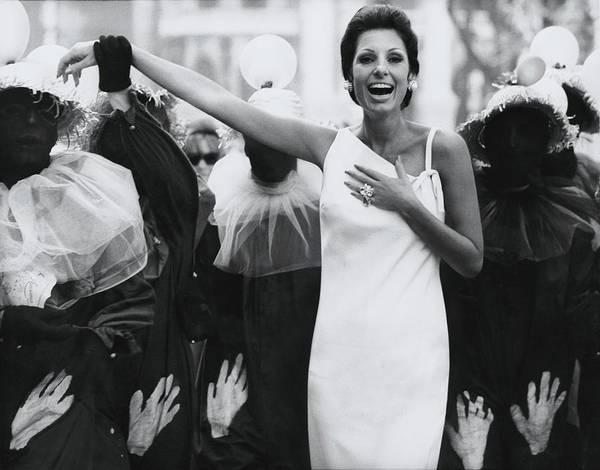 Rio De Janeiro Photograph - Senora Antonio Mayrink Veiga On A Street In Rio by Henry Clarke
