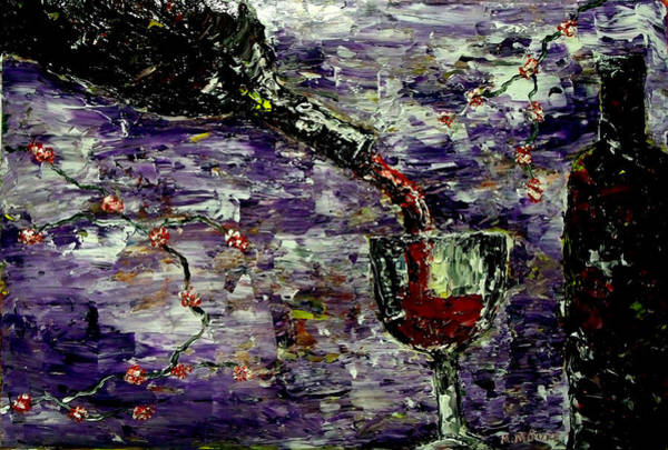 Spanish Wine Painting - Sensual Pleasures  by Mark Moore