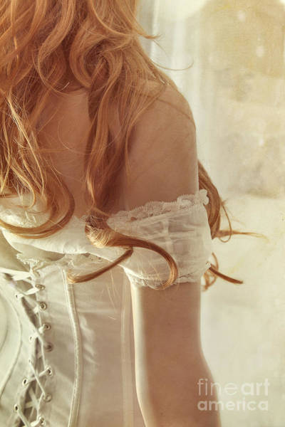 Photograph - Sensual View Of A Woman Wearing Corset  by Sandra Cunningham